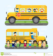 bus kids transport vector illustration stock vector