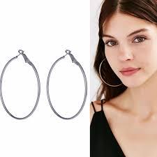large hoop earrings woman plated silver gold hoop earrings big circle earrings 20 70