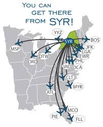 New York Airport Map Terminals by Destinations Syracuse Hancock International Airportsyracuse