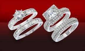 groupon wedding rings two engagement ring set groupon goods