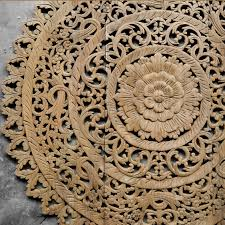 Distressed Wood Wall Panels by Distressed Mandala Carved Wood Wall Panel Siam Sawadee