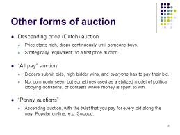 pay to bid auction auction theory ppt
