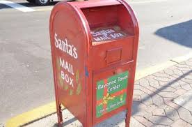 letters to santa mailbox two mailboxes in bayonne accepting only letters to santa claus