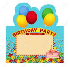Birthday Party Invitation Card Birthday Party Invitation Card With Piece Of Cake Invitation