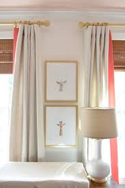 White Curtains With Blue Trim Decorating Coral And Gold Nursery Bungalow Blue Interiors Home Nursery