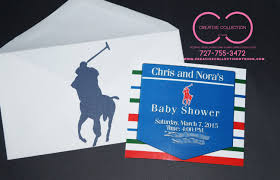 polo themed baby shower polo invitations product tags creative collection by shon