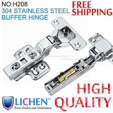 4 pieces lot lichen 304 stainless steel half overlay buffer hinges