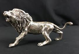 silver lion statue antiques gifts antique sterling silver lion statue with