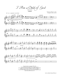 i am a child of god by sally deford piano duet piano ensemble
