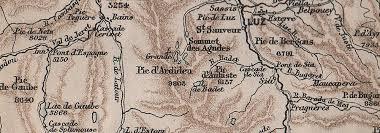 bureau vall pau peaks spas between pau bigorre cauterets argeles pyr n es 1885