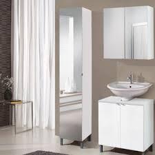 Mirrored Tall Bathroom Cabinet - tall bathroom cabinets wayfair co uk