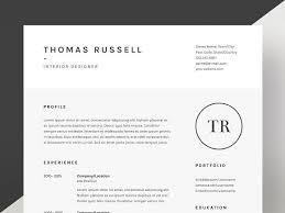 thomas russell resume cv template resume templates creative