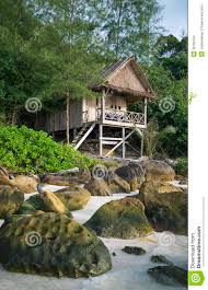 bungalow in koh rong island beach in cambodia stock images image