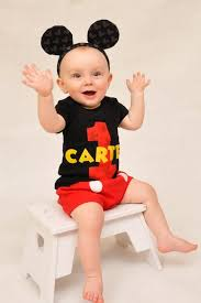 mickey mouse 1st birthday boy mickey 1st birthday boy shirt bib party set with mickey ears