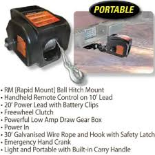 keeper kac1500 110 120v ac electric winch with hand held remote
