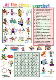 Categorizing Worksheets Circus Exercises Worksheet Free Esl Printable Worksheets Made