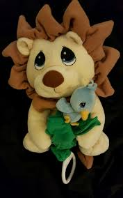 precious moments lion bird musical pull crib toy