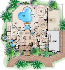 mediterranean style house plan 4 beds 7 00 baths 10662 sq ft