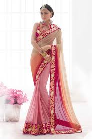 party wear gowns and lycra party wear designer saree in baby pink and colour