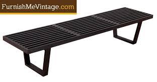 Slat Bench Restored Mid Century Slat Bench Coffee Table In Black