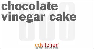 chocolate vinegar cake recipe cdkitchen com