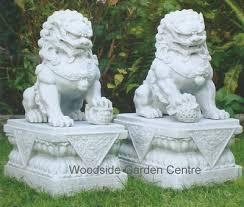 marble foo dogs foo dog garden statue hawe park