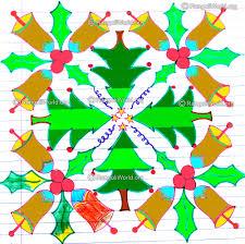 christmas kolam designs santa claus jingle bells christmas