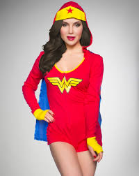 wonder woman corset spirit halloween wonder woman junior fitted hooded romper from spencer u0027s visit