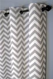Black And White Striped Curtain Panels Wall Decor White And Grey Chevron Curtains With White Wall For