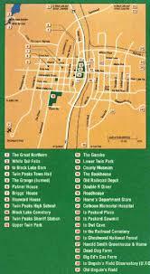 Twin Peaks Map Twin Peaks Cartes