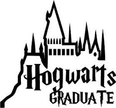 hogwarts alumni sticker harry potter hogwarts graduate vinyl car window and laptop