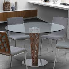 48 In Round Dining Table Armen Living Lccrditogr Crystal 48