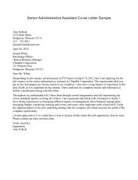 sample cover letter for senior management position guamreview com