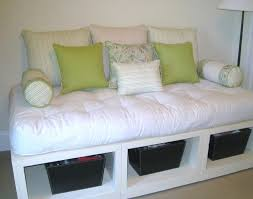 Platform Bed With Storage Underneath Daybed Diy White Platform Daybed With Open Storage Underneath