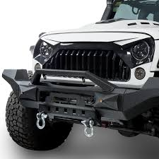 white jeep 2 door white front topfire grille grid grill for jeep wrangler jk 2011