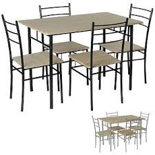 metal frame table and chairs dining set table 4 chairs breakfast bar kitchen metal frame bistro