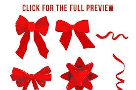 christmas ribbon bows 40 bows ribbons clipart christmas bows ribbon bow