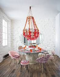 Shabby Chic White Chandelier Dinning Rooms White Chic Dining Room With Small Dining Table