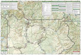 National Map Amazon Com Yellowstone National Park National Geographic Trails