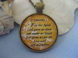 bible verse jewelry scripture necklace bible verse 2 timothy 1 7 god