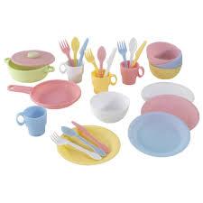 27 accessoires de cuisine enfant pastel