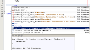 code templates in netbeans ide for php tutorial