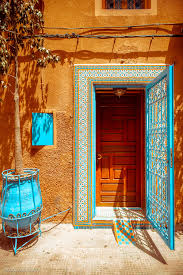 Blue House Orange Door Morocco The Combination Of Colors Is Perfect Favorite Places