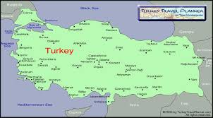 touristic map of map of turkey where to go