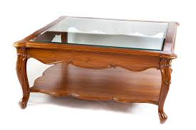 glass coffee table nest teak furniture glass top center coffee table