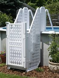 Backyard Above Ground Pools by New Complete Steps Entry System Above Ground Swimming Pools Ladder