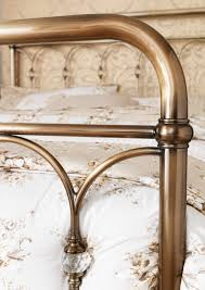 oscar vintage metal bed frame antique brass or nickel 5ft king