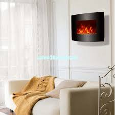 Led Fireplace Heater by Wall Mount Electric Fireplace Heater Curved Front Pebbles Led