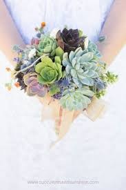 succulent bouquet garden succulents and