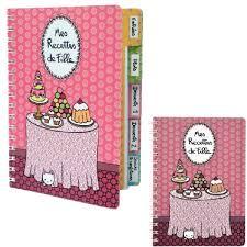 cahier de cuisine vierge cahier vierge de cuisine mes recettes de fille à onglets carnet
